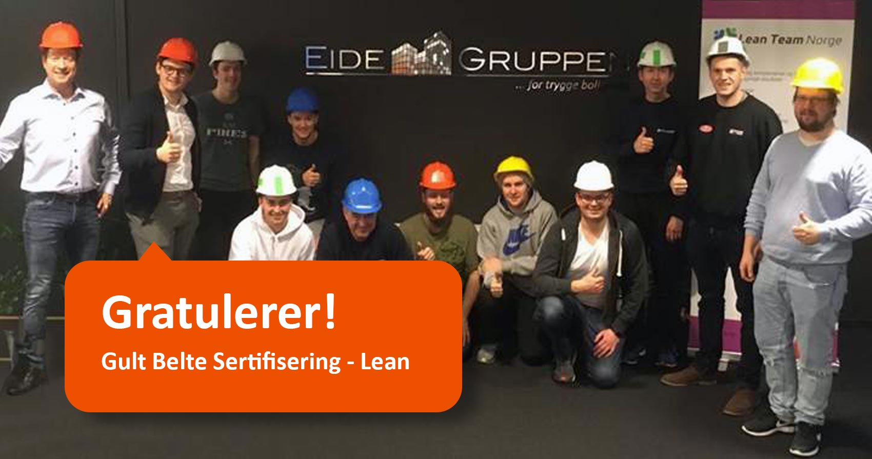 Gratulerer med Gult belte sertifisering Lean Triangel Lean Team Norge